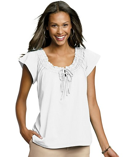 Hanes-Signature-Womens-Featherweight-Peasant-T-Shirt-style-23925