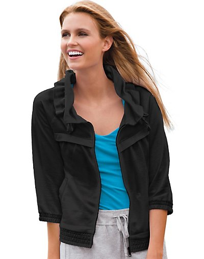 Hanes-Signature-Womens-French-Terry-Shawl-Collar-Elbow-Jacket-style-23966
