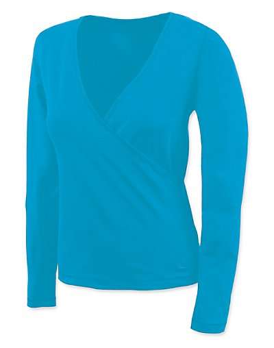 Champion-Stretch-Cotton-Wrap-Front-Womens-T-Shirt-style-24622