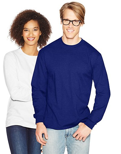 Hanes Adult Beefy-T Long-Sleeve T-Shirt style 5186