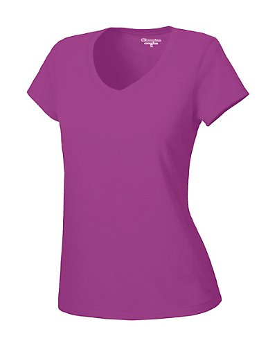 Champion-100-Cotton-V-Neck-Womens-T-Shirt-style-7842