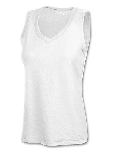 Champion-100-Cotton-V-Neck-Women-039-s-Tank-Top-style-7844