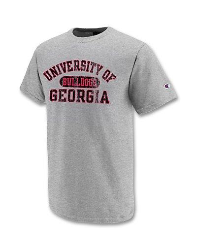 Champion-Cotton-Rich-University-of-Georgia-Bulldogs-T-Shirt-style-GAT100