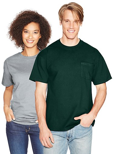 Hanes-Beefy-T-Adult-Pocket-T-Shirt-style-5190