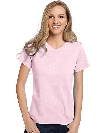 Hanes Relaxed Fit Women's ComfortSoft V-neck T-Shirt Women's Tops ...