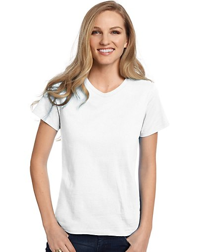 Hanes Relaxed Fit Women's ComfortSoft® V-neck T-Shirt style 5780