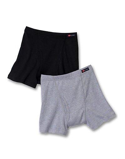 Hanes-Classics-TAGLESS-Knit-Boys-Boxer-Briefs-ComfortSoft-Waistband-2-Pk-B754