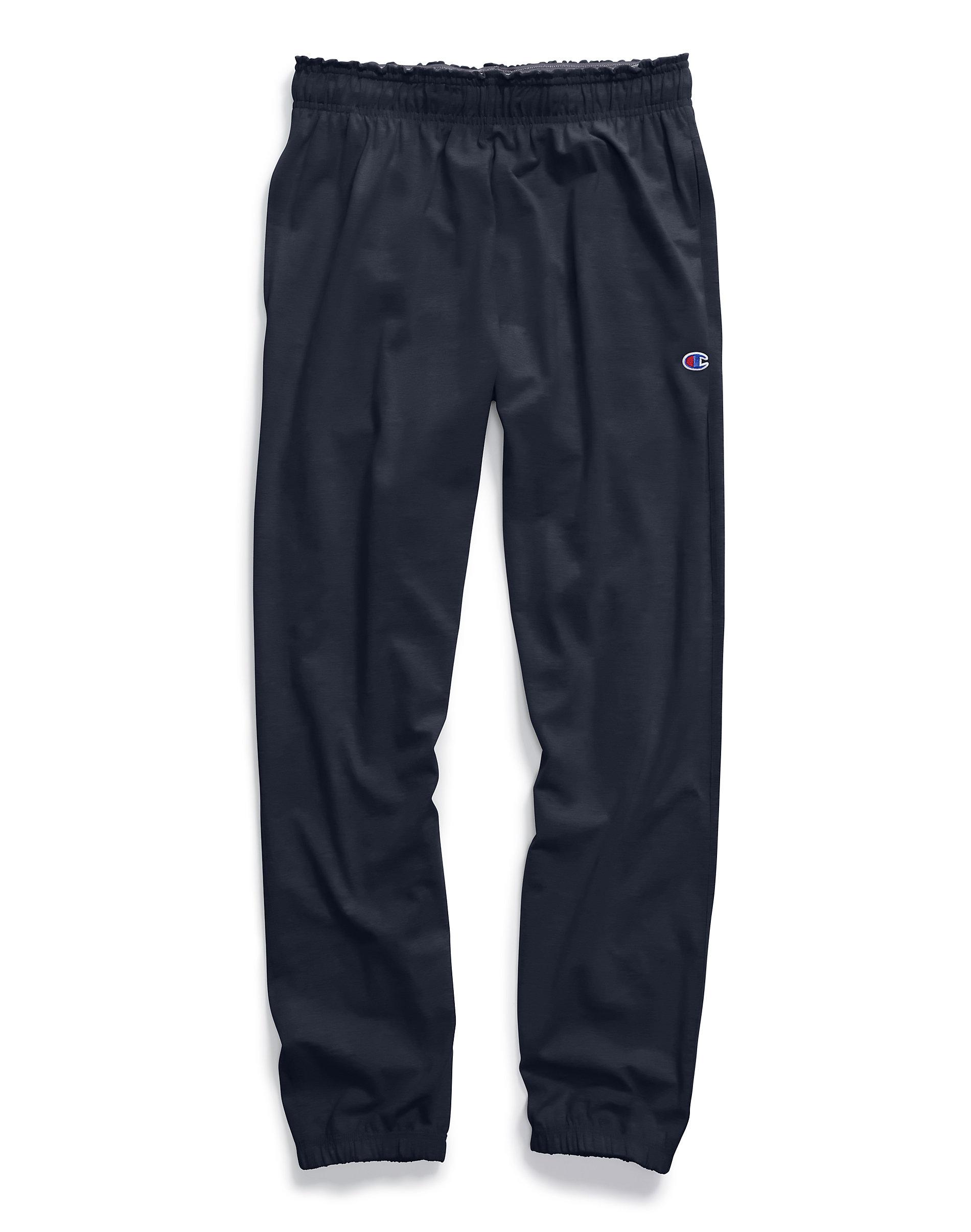 Champion Authentic Men/'s Athletic Pants Closed Bottom Jersey Sweatpants Workout