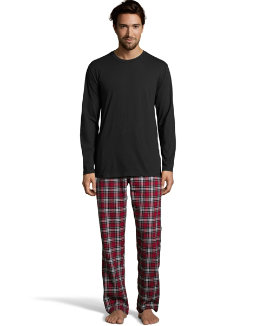 Hanes Men's Jersey Flannel Sleep Set men Hanes