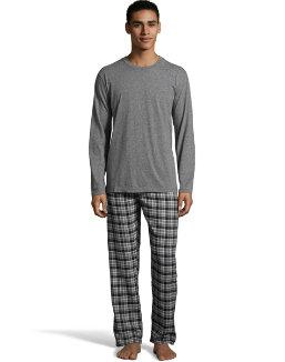 Hanes Men's Jersey Flannel Sleep Set men Hanes