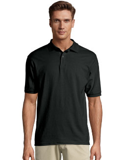 Hanes Men's Cotton-Blend EcoSmart® Jersey Polo men Hanes