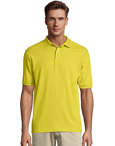Hanes Cotton-Blend Jersey Men's Polo - 054X