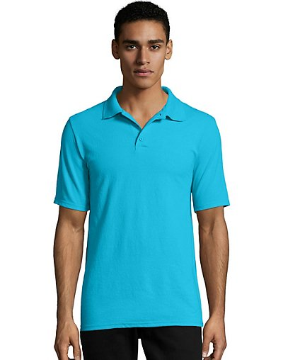 Hanes Men's X-Temp w/Fresh IQ Pique Polo