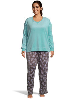 Hanes Winter Skies Sleep Set Plus women Hanes