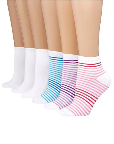 Hanes Women's ComfortBlend® Ankle Socks 6-Pack - 403_6P
