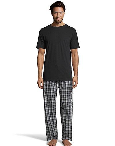Hanes Men's Sleep Set with Woven Knit Pants