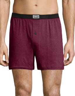 Hanes Men's 1901 Heritage Dyed Knit Boxers Assorted 4-Pack men Hanes