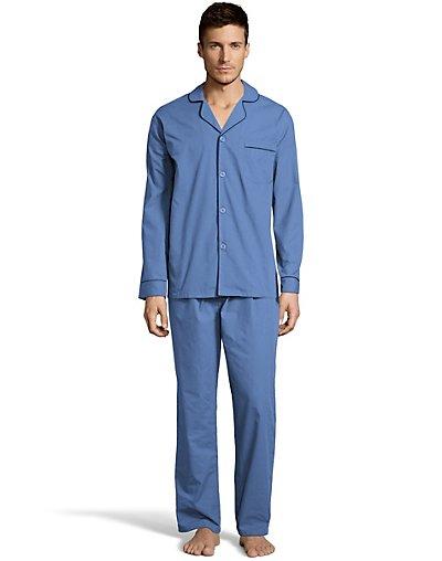 Hanes Men's Woven Pajamas - LSLLBCWM_LSLLBCWMB