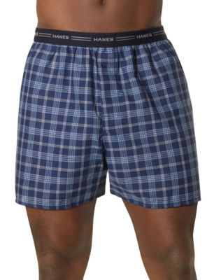 Hanes Men's Red Label Exposed Elastic Waistband Boxer P2