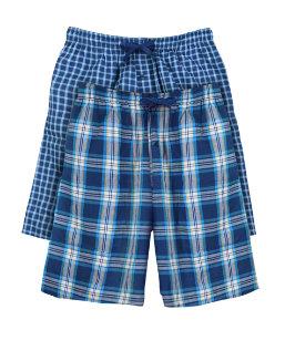 Hanes Men's Woven Plaid Shorts 2-Pack men Hanes