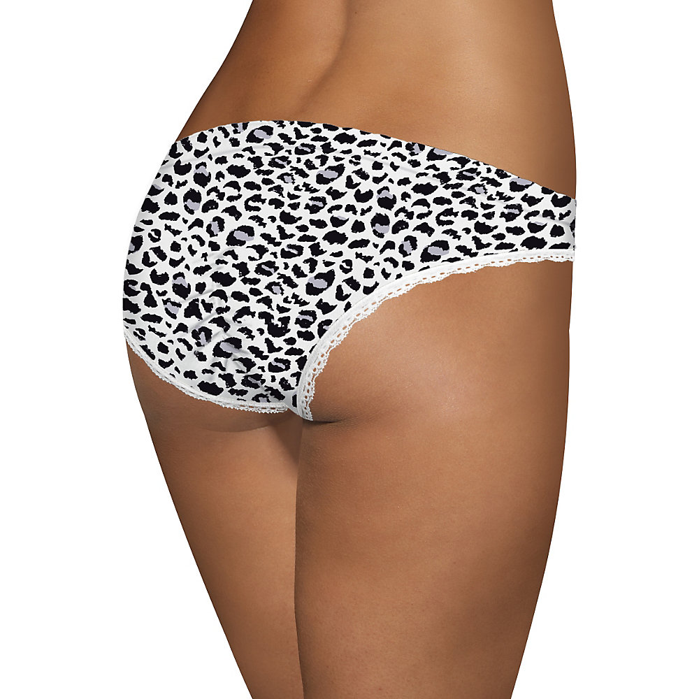 Barely There Custom Flex Fit Microfiber Cheeky - 2627 - White Leopard - 6 at Sears.com