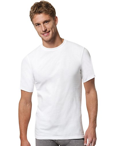 Hanes Men's X-Temp™ Crewneck White Undershirt 3-Pack 2535X3