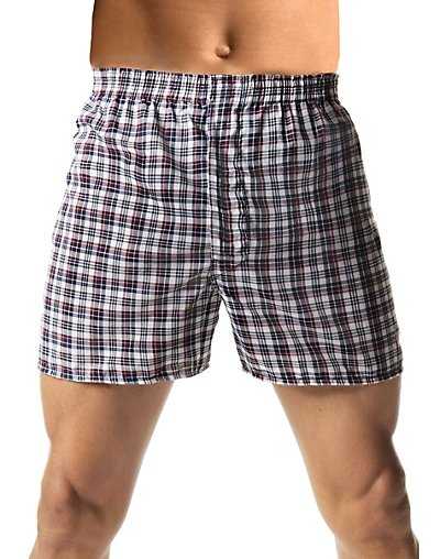 Hanes Men's TAGLESS® Woven Boxers with Comfort Flex® Waistband 3X-5X 3-Pack - HN155W