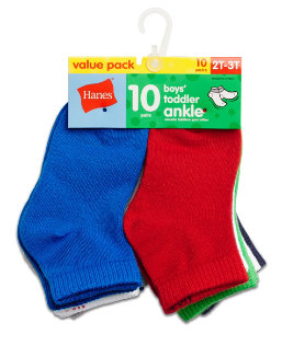 Hanes Boys' Infant/Toddler Ankle 10-Pack youth Hanes