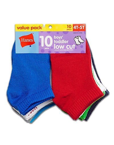 Hanes Boys' Toddler Low Cut 10-Pack - 28_10