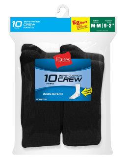 Hanes Boys' Crew EZ Sort® Socks 10-Pack youth Hanes