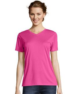 Hanes Women's Cool DRI® V-Neck T-Shirt women Hanes