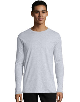 Hanes TAGLESS® Nano-T® Men's Long-Sleeve Tee men Hanes