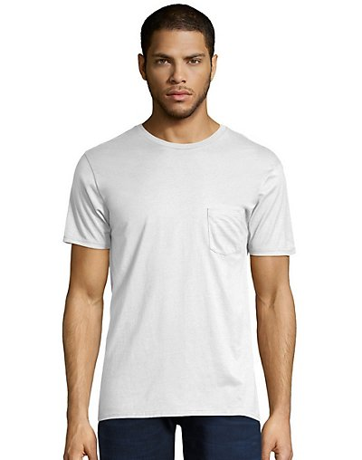 Hanes Men's Nano-T Pocket T-Shirt - 498P