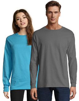 Hanes Adult Beefy-T Long-Sleeve T-Shirt men Hanes