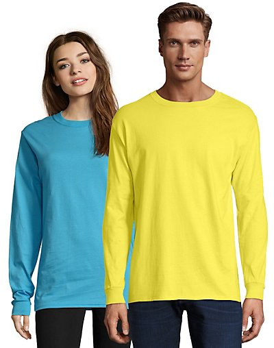 Hanes Adult Beefy-T Long-Sleeve T-Shirt - 5186