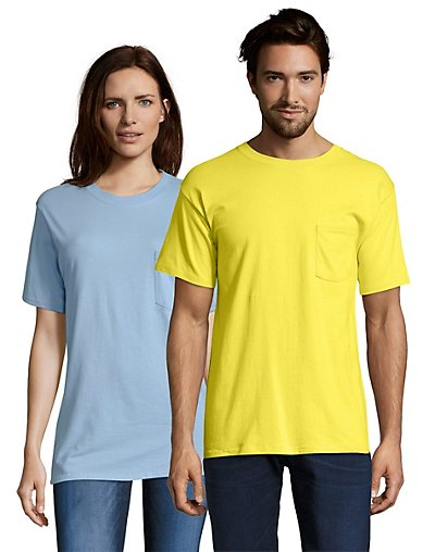 Hanes Beefy-T Adult Pocket T-Shirt - 5190