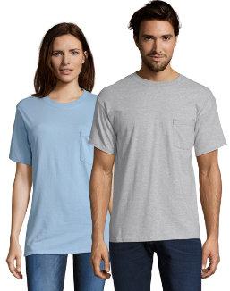 Hanes TAGLESS® Pocket T-Shirt men Hanes
