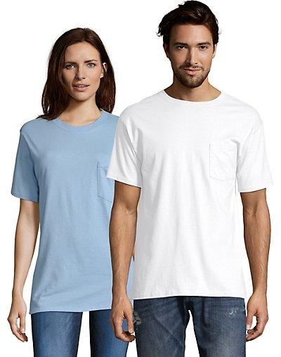Hanes TAGLESS® Pocket T-Shirt - 5590