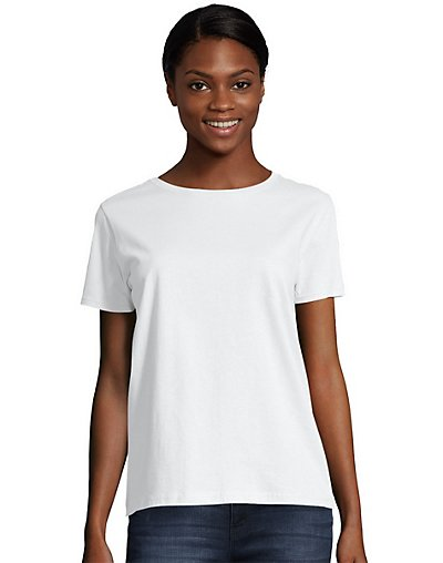 Hanes Women's Relaxed Fit Jersey Crew - 5680