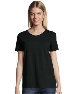 Hanes Relaxed Fit Women's ComfortSoft® V-neck T-Shirt women Hanes