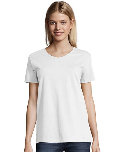 Hanes Relaxed Fit Women's V-neck T-Shirt - 5780