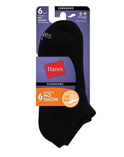 Hanes Women's Cushion Extra Low Cut - 6 Pairs 650_6