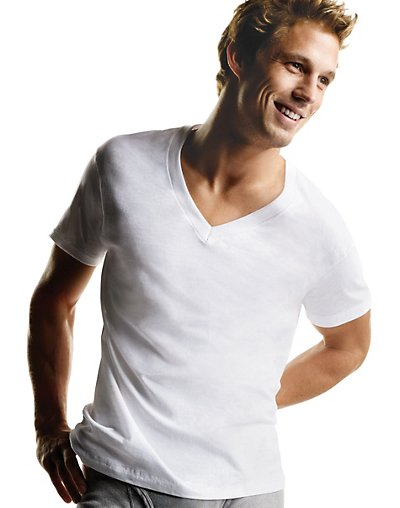 Hanes Big Men's TAGLESS® V-Neck Undershirt 5-Pack - 777P5B