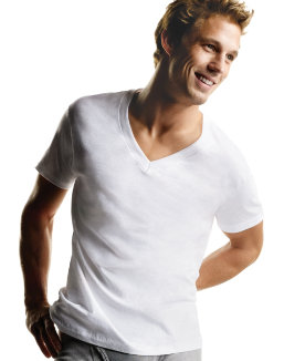 Hanes Men's TAGLESS® V-Neck Undershirt 5-Pack (2X-3X) men Hanes