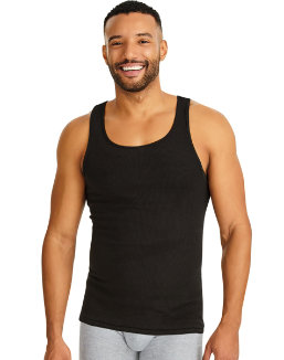 Hanes Classics Men's TAGLESS® ComfortSoft® Dyed A-Shirt 4-Pack men Hanes