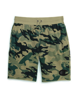 Champion Men's Vintage Dye Fleece Camo Shorts, Felt C Logo men Champion