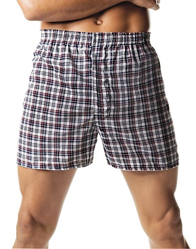 Hanes Men's Tartan Boxers with Comfort Flex® Waistband 2-Pack - 838VTY