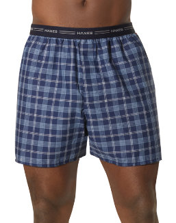 Hanes Men's Yarn Dyed Plaid Boxers 5-Pack men Hanes