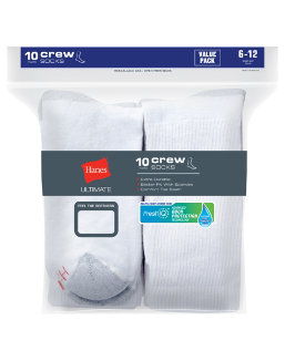 Hanes Ultimate® Men's Cushion Crew Socks 10-Pack men Hanes