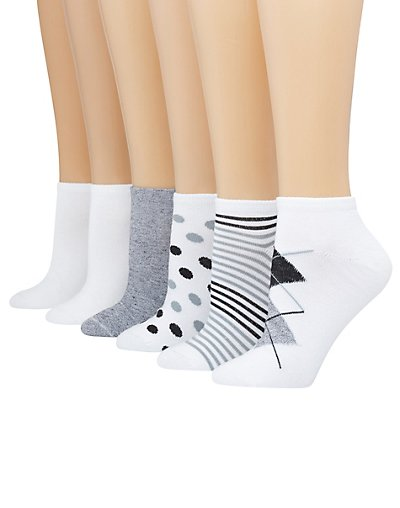 Hanes ComfortBlend® Women's Low-Cut Socks 6-Pack - 856_6